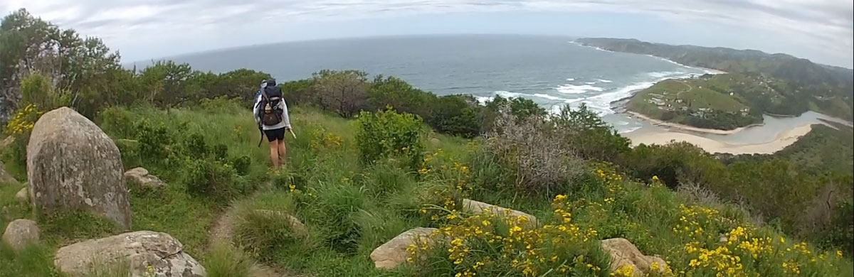 Typical Wild Coast scenery between Port St Johns and Coffee Day