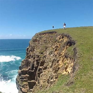 Standing atop Maphuzi's cliffs