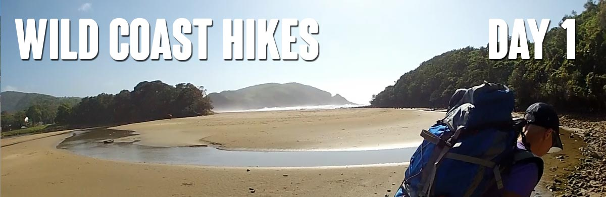Day One of the hike - passing The Gap at Second Beach, Port St Johns
